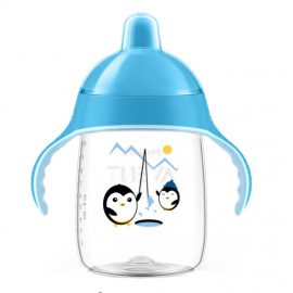 Avent Taza Magic antigoteo azul 340 ml 18+
