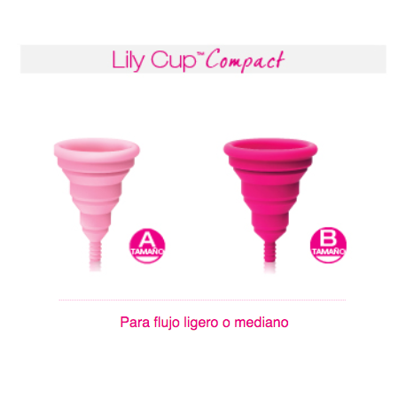 Intimina Lily Cup Compact Copa Menstrual Tamaño A