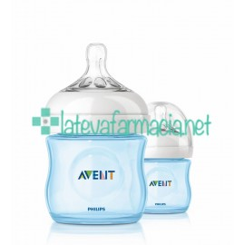 Avent Biberón Natural de 125ml - azul