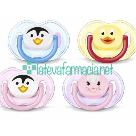 Avent 2 chupetes animales 0-6 meses (colores surtidos)