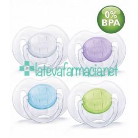 Avent 2 chup translucidos 6-18meses (colores surtidos)